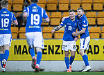 St Johnstone v Motherwell…..12.02.20   McDiarmid Park   SPFL<br />Callum Hendry celebrates his goal with David Wotherspoon<br />Picture by Graeme Hart.<br />Copyright Perthshire Picture Agency<br />Tel: 01738 623350  Mobile: 07990 594431