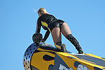 The Cannon Girl in action before the NASCAR Sprint Cup Series AAA 500 race at Texas Motor Speedway in Fort Worth,Texas.