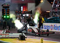Sep 21, 2018; Madison, IL, USA; NHRA top fuel driver Billy Torrence during qualifying for the Midwest Nationals at Gateway Motorsports Park. Mandatory Credit: Mark J. Rebilas-USA TODAY Sports