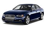 2014 Audi S4 Base 4 Door Sedan angular front stock photos of front three quarter view