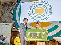 Rotterdam, Netherlands, 09 Februari, 2018, City Hall, Official Draw,    Ahoy director Jolanda Jansen and Richard Krajicek<br /> Photo: Tennisimages/Henk Koster