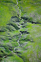 aerial photograph Adobe creek, Sonoma Mountain, Petaluma, Sonoma county, California