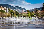 Frankreich, Provence-Alpes-Côte d'Azur, Nizza: Promenade du Paillon - Stadtpark im Herzen der Stadt | France, Provence-Alpes-Côte d'Azur, Nice: Promenade du Paillon - city park in the centre