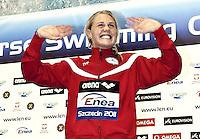 Szczecin Poland - Stettino Polonia POL  .Dec.8 - 12 2011 .European Swimming Short Course Championships.Swimming Nuoto -Day 02 Final.50 Butterfly women .Jeannette OTTESEN DEN .Gold medal.G.Scala/Watering Photo/Deepbluemedia.eu..