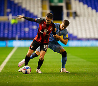 2nd October 2020; St Andrews Stadium, Coventry, West Midlands, England; English Football League Championship Football, Coventry City v AFC Bournemouth; Adam Smith of AFC Bournemouth with the ball at his feet holding off Ben Sheaf of Coventry City