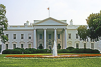 Washington D.C. : The White House, North elevation. Photo '91.