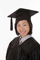 Montreal QC CANADA -  June 7 2009 - Model Released illustration  Photo of an 21 year old asian female graduate