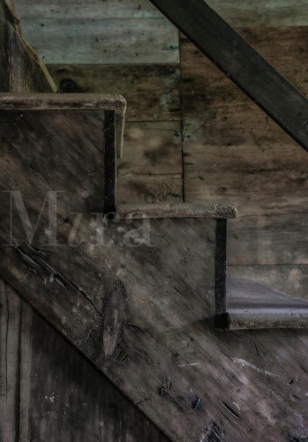 Old barn stair detail.