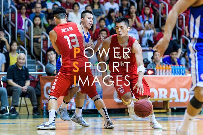 Leung Shiu Wah #6 of SCAA Men's Basketball Team (R) in action during the Hong Kong Basketball League 2018 match between SCAA v Eastern Long Lions on August 10, 2018 in Hong Kong, Hong Kong. Photo by Marcio Rodrigo Machado/Power Sport Images