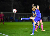 Heleen Jaques (4 Gent) pictured during a female soccer game between  AA Gent Ladies and Sporting Charleroi Feminin on the fifth matchday of the 2020 - 2021 season of Belgian Scooore Womens Super League , friday 16 th of October 2020  in Oostakker , Belgium . PHOTO SPORTPIX.BE   SPP   DAVID CATRY