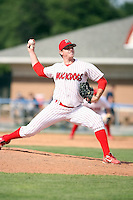 August 20th, 2007:  Josh Dew of the Batavia Muckdogs, Short-Season Class-A affiliate of the St. Louis Cardinals at Dwyer Stadium in Batavia, NY.  Photo by:  Mike Janes/Four Seam Images