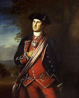 George Washington, 1772<br /> <br /> Cette peinture est l'un des plus anciens portraits de George Washington. Il est represente en uniforme de colonel du Regiment de Virginie.