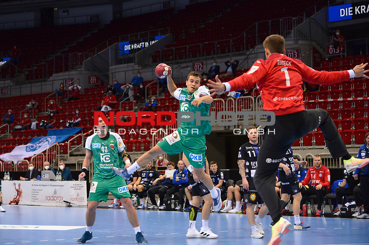 21.11.2020, Duesseldorf, ISS Dome, GER, 1.Liqui Moly HBL,  BHC06 vs. Fuechse Berlin<br />