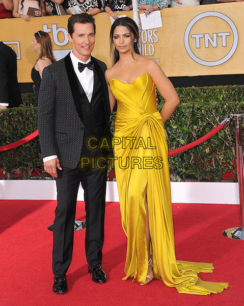 Matthew McConaughey, Camila Alves at the 20th Annual Screen Actors Guild Awards held at The Shrine Auditorium in Los Angeles, California on January 18th 2014.                                                                              <br /> CAP/DVS<br /> ©Debbie VanStory/Capital Pictures