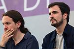 Spanish politician Alberto Garzon and Pablo Iglesias during the closing of the electoral campaign of Unidos Podemos. 24,06,2016. (ALTERPHOTOS/Rodrigo Jimenez)