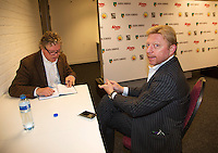 09-02-13, Tennis, Rotterdam, qualification ABNAMROWTT, Boris Becker being interviewd bij Jon Visbeen