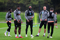 (L-R) Nathan Dyer, Tyler Reid, Leroy Fer, Mike van der Hoorn and Matt Grimes of Swansea City during the Swansea City Training at The Fairwood Training Ground on October 16, 2018 in Swansea, Wales, UK. Tuesday 16 October 2018