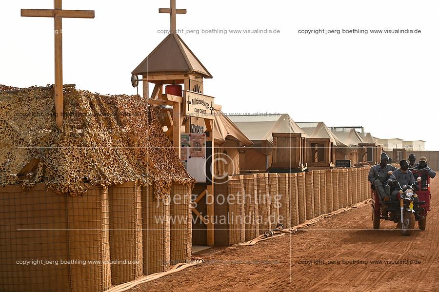 MALI, Gao, Minusma UN peace keeping mission, Camp Castor, german army Bundeswehr , camp church / Martinskirche, Militaerseelsorge