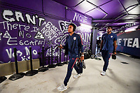 ORLANDO, FL - NOVEMBER 15: Weston McKennie #8 of the United States walks through the tunnel out to the field during a game between Canada and USMNT at Exploria Stadium on November 15, 2019 in Orlando, Florida.