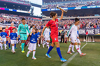 PHILADELPHIA, PA - AUGUST 29: Carli Lloyd #10 of the United States enters the field prior to a game between Portugal and the USWNT at Lincoln Financial Field on August 29, 2019 in Philadelphia, PA.