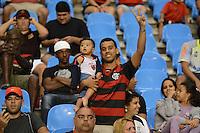 RIO DE JANEIRO, RJ, 19 AGOSTO 2012 - FLAMENGO X VASCO- Torcedores do Flamengo durante o jogo Flamengo x Vasco, valido pela 18 rodada do Campeonato Brasileiro no Estaio Joao Havelange, Engenhao, neste domingo, 19, na zona norte do Rio de Janeiro.(FOTO:MARCELO FONSECA / BRAZIL PHOTO PRESS).