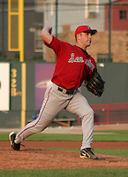 August 20, 2003:  Shawn Hill of the Harrisburg Senatos, Class-AA affiliate of the Montreal Expos, during a Eastern League game at Jerry Uht Park in Erie, PA.  Photo by:  Mike Janes/Four Seam Images