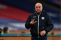 25th March 2021; Wembley Stadium, London, England;  Bacciocchi Simone San Marino Manager gestures and directs his team during the World Cup 2022 Qualification match between England and San Marino at Wembley Stadium in London, England.