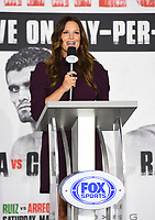 LOS ANGELES, CA - APRIL 28: Heidi Androl attends the press conference for the Andy Ruiz Jr. vs Chris Arreola Fox Sports PBC Pay-Per-View in Los Angeles, California on April 28, 2021. The PPV fight is on May 1, 2021 at Dignity Health Sports Park in Carson, CA. (Photo by Frank Micelotta/Fox Sports/PictureGroup)