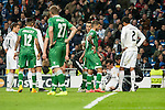 Bale of Real Madrid during Champions League match between Real Madrid and Ludogorets at Santiago Bernabeu Stadium in Madrid, Spain. December 09, 2014. (ALTERPHOTOS/Luis Fernandez)