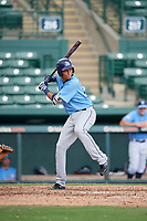 Tampa Bay Rays Carlos Vargas (95) at bat during an Instructional League game against the Baltimore Orioles on October 5, 2017 at Ed Smith Stadium in Sarasota, Florida.  (Mike Janes/Four Seam Images)