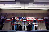 Philadelphia, PA - Saturday January 20, 2018: JP Dellacamera, Paul Caligiuri during the U.S. Soccer Federation Presidential Election Candidates Forum hosted by US Youth Soccer at the Philadelphia Marriott Downtown Grand Ballroom.