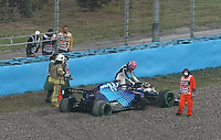 9th October 2021; Formula 1 Turkish Grand Prix 2021 Qualifying sessions at the Istanbul Park Circuit, Istanbul;  George Russel GBR 63 , Williams Racing goes off into the gravel and the car has to be towed away