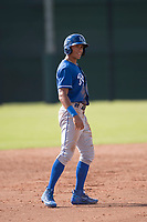 Kansas City Royals outfielder Michael Gigliotti (31) takes a lead off second base during an Instructional League game against the San Francisco Giants at the Giants Training Complex on October 17, 2017 in Scottsdale, Arizona. (Zachary Lucy/Four Seam Images)