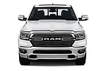 Car photography straight front view of a 2019 Ram 1500 Crew Cab Laramie Short Box 4x2 4 Door Pick Up