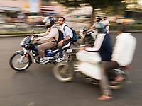 Highway traffic in Bangalore, Karnataka, India