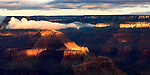 The Grand Canyon at sunrise from the south rim. Arizona, USA.