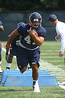 Virginia linebacker Curt Orshoski during open spring practice for the Virginia Cavaliers football team August 7, 2009 at the University of Virginia in Charlottesville, VA. Photo/Andrew Shurtleff