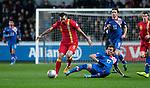 FIFA 2014 World Cup Qualifier - Wales v Croatia - Swansea - 26th March 2013 :  Mario Mandzukic of Croatia tackles Joe Ledley of Wales.