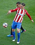 Atletico de Madrid's Fernando Torres (r) and Sevilla FC's Gabriel Mercado during La Liga match. March 19,2017. (ALTERPHOTOS/Acero)