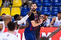 11th April 2021; Palau Blaugrana, Barcelona, Catalonia, Spain; Liga ACB Basketball, Barcelona versus Real Madrid; 33 Nicola Mirotic  of Barcelona during the Liga Endesa match