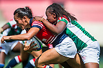 Hong Kong vs Kenya during the Day 2 of the IRB Women's Sevens Qualifier 2014 at the Skek Kip Mei Stadium on September 13, 2014 in Hong Kong, China. Photo by Aitor Alcalde / Power Sport Images