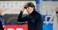 6th August 2020, Basel, Switzerland. UEFA National League football, Switzerland versus Germany; Trainer Joachim Loew Germany looks on bemused