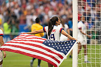 LYON, FRANCE - JULY 07: Christen Press during a game between Netherlands and USWNT at Stade de Lyon on July 07, 2019 in Lyon, France.