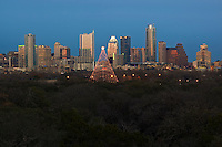 Christmas Time in Austin, Texas offers the moonlight tower otherwise known as the Zilker Holiday Tree for family fun, food and entertainment