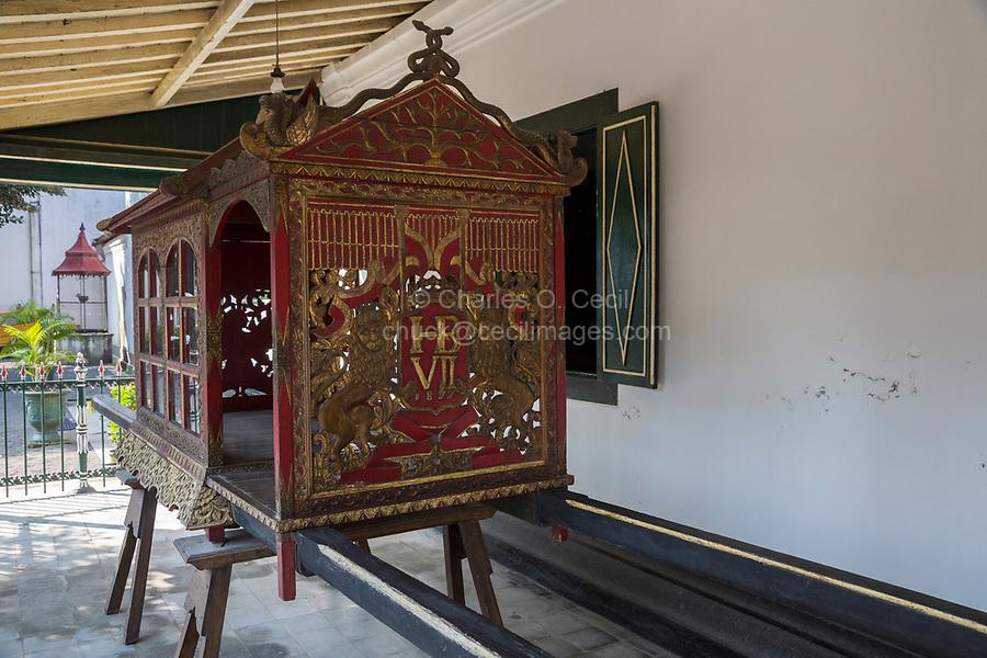 Yogyakarta, Java, Indonesia.  Personal Carriage for Sultan Hamengkubhuwana VII.  Sultan's Palace.