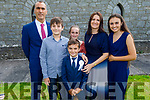 Rubén Rivas McHugh with his family at his first holy communion in the Church of the Immaculate Conception, Rathass on Saturday.<br /> L to r: Ruben, Nadal, Rubén, Nadia, Siobhan and Maiya Rivas McHugh .