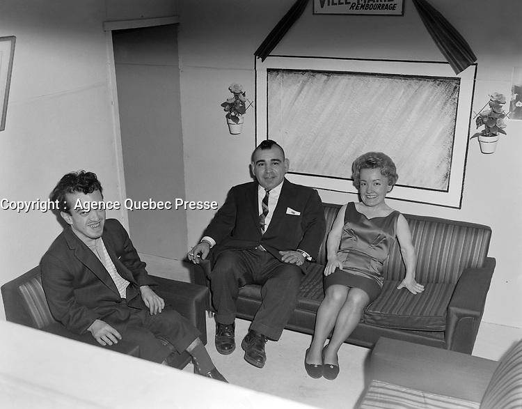Le lutteur Little Beaver (Lionel Giroux)<br /> , le 22 janvier 1964<br /> <br /> Photo : Lefaivre & Desroches - Agence Quebec Presse