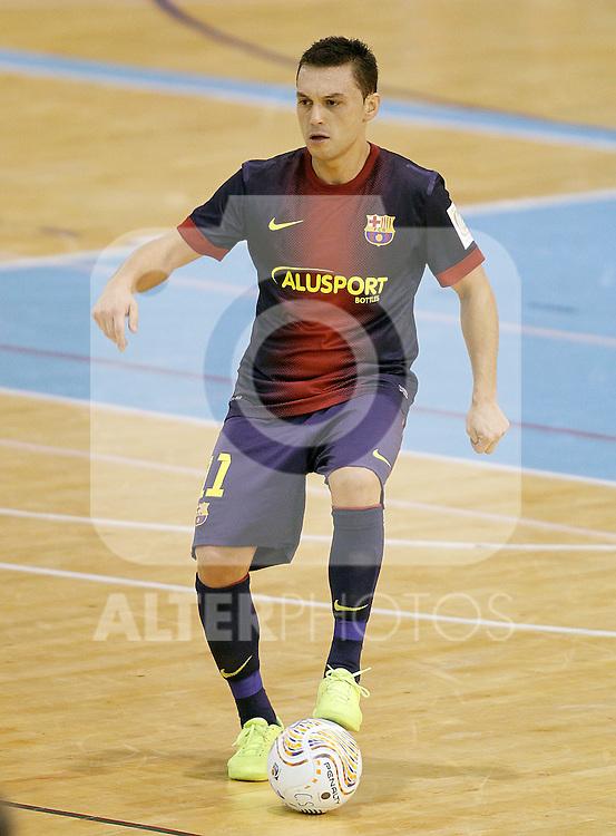 FC Barcelona Alusport's Saad Assis during Spanish National Futsal League match.November 24,2012. (ALTERPHOTOS/Acero)