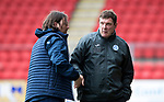 St Johnstone v Hartlepool…22.07.17… McDiarmid Park… Pre-Season Friendly<br />Tommy Wright and Craig Harrison shake hands at full time<br />Picture by Graeme Hart.<br />Copyright Perthshire Picture Agency<br />Tel: 01738 623350  Mobile: 07990 594431