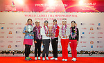 Winners from all categoriesPrize giving ceremony of the World Ladies Championship 2016 on 13 March 2016 at Mission Hills Olazabal Golf Course in Dongguan, China. Photo by Victor Fraile / Power Sport Images